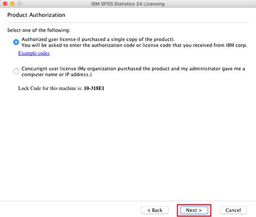 Autorizacija SPSS licence MAC