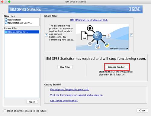 SPSS licence MAC OS